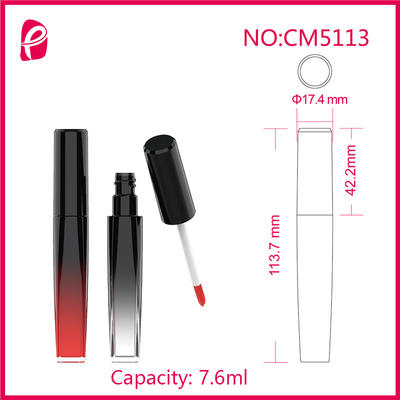 Plastic Packaging Lip Gloss Container Empty Unique Lip Gloss Tube With Injection Bottle Cm5113