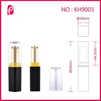 High-Grade Empty Square Tube Double Color Custom Lipstick Container With Clear Cap Kh9003