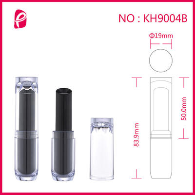 Round Cosmetic Packaging Tube Empty Custom Lipstick Container With Special Cap Kh9004b