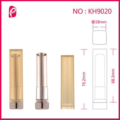 Lipstick Tube High-Grade Plastic Square Packaging Tube Lipstick Cover With Clear Lid Kh9020