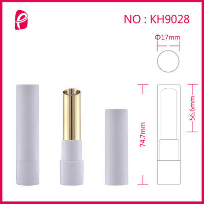 Lipstick Tube Double Colors Transparent Cap Tube Packaging Empty Lipstick Container With Inclined Mouth Kh9028